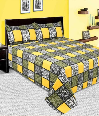 Kingsway Cotton Checkered Double Bedsheet