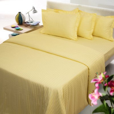 Mark Home Cotton Striped Double Bedsheet