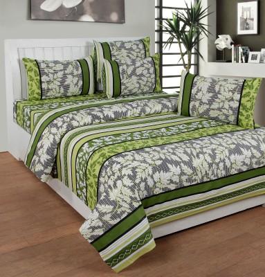 NITAVI Cotton Striped Double Bedsheet