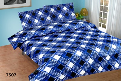 Living Décor Cotton Checkered Double Bedsheet