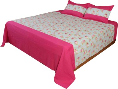 Home Colors Cotton Floral King sized Double Bedsheet