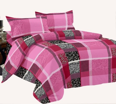Manzoni by KAWAI COLLECTION Cotton Checkered Double Bedsheet