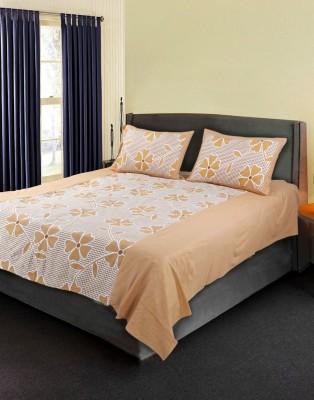 eSOUL Cotton Floral Queen sized Double Bedsheet