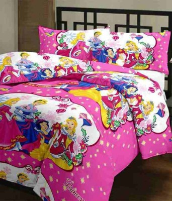 BlueeyE Satin Cartoon Single Bedsheet