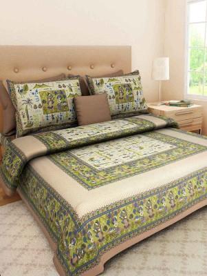 JAIPUR DECOR Cotton Printed Double Bedsheet