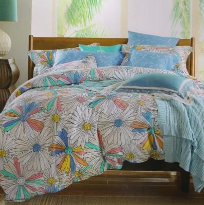 Shopgalore Cotton Floral Double Bedsheet