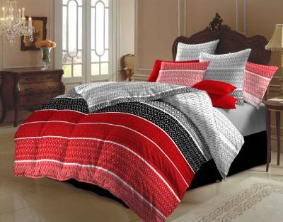 Arto Polycotton Striped Double Bedsheet