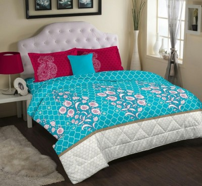 Bichauna by Portico Cotton Linen Blend Paisley King sized Double Bedsheet