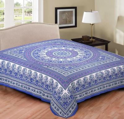 Hometexbazar Cotton Printed Double Bedsheet