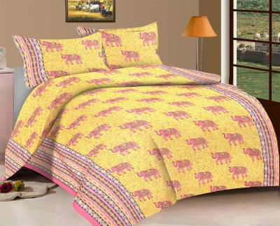 Viskar Fab Tex Cotton Printed King sized Double Bedsheet
