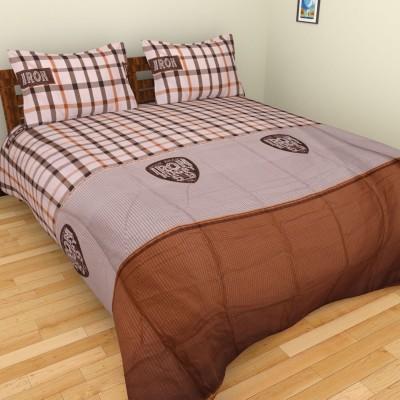 Brida Polycotton Checkered Double Bedsheet