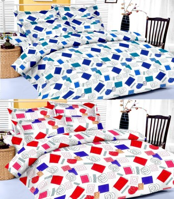Factorywala Cotton Checkered King sized Double Bedsheet