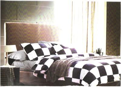 Zayn D, Cotton Checkered Double Bedsheet