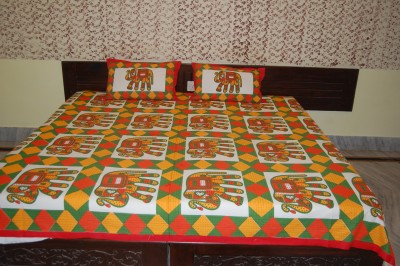 Bichona Cotton Animal King sized Double Bedsheet