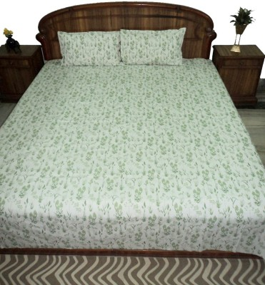 Amita Home Furnishing Cotton Printed Queen sized Double Bedsheet
