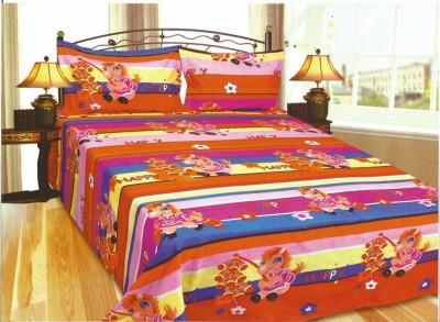Exotic Cotton Cartoon Double Bedsheet