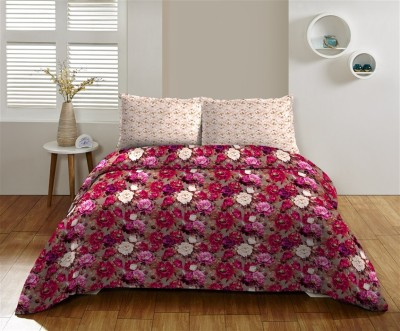 DCTex Furnishings Cotton Printed King sized Double Bedsheet