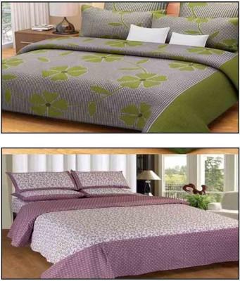 The Intellect Bazaar Cotton Polka Double Bedsheet