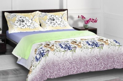 Spaces by Welspun Cotton Floral King sized Double Bedsheet