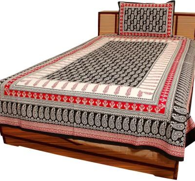 Indigocart Cotton Printed Single Bedsheet