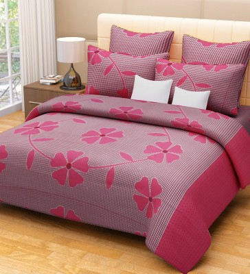 Lullabies Cotton Floral Double Bedsheet