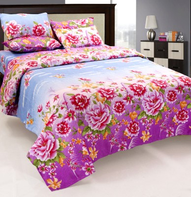 Optimistic Home Furnishing Polycotton Floral Double Bedsheet