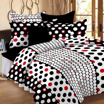 Happy Life Cotton Polka Double Bedsheet