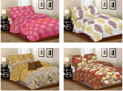 Desirica Cotton Floral Queen sized Double Bedsheet