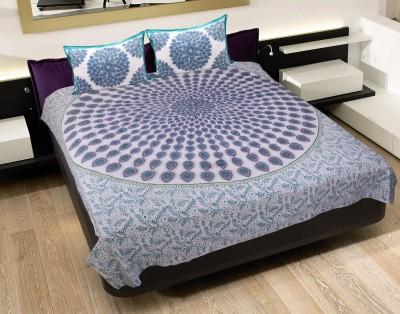 Jaipur Fab Cotton Floral Queen sized Double Bedsheet