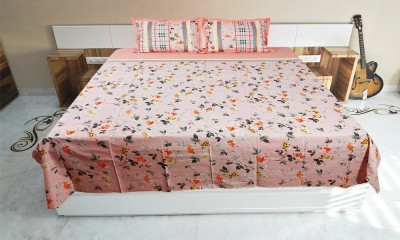 Seema Singh Cotton Floral Double Bedsheet