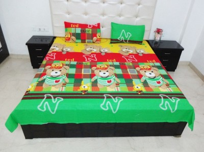 K Gallery Cotton Cartoon Double Bedsheet