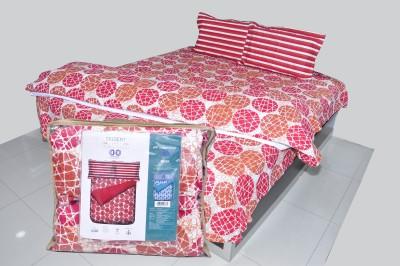 Trident Cotton Geometric Double Bedsheet