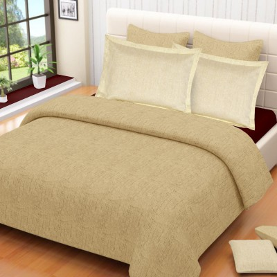 Vintana Satin Plain King sized Double Bedsheet