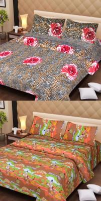 Dreams Home Cotton Floral Double Bedsheet