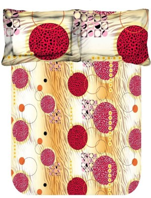 Axotic Cotton Abstract Double Bedsheet