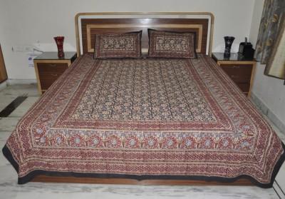 Lal Haveli Cotton Floral Double Bedsheet
