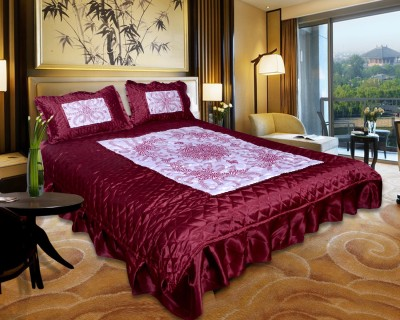 El Sandalo Satin Abstract King sized Double Bedsheet