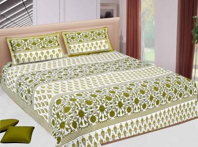 Jaipur Printex Cotton Floral Double Bedsheet