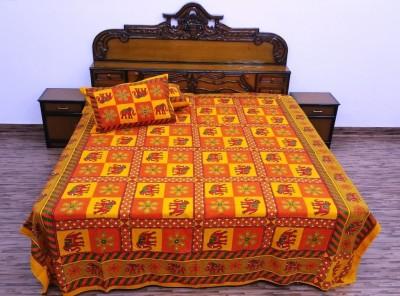Ethnic Rajasthan Cotton Animal Double Bedsheet