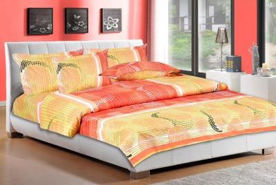 Desirica Cotton Abstract Double Bedsheet