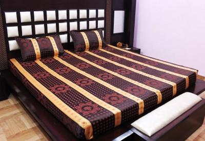 Milan Polycotton, Jacquard Geometric King sized Double Bedsheet