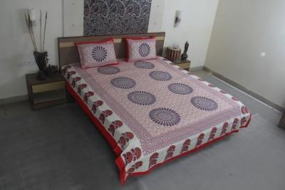 Jaipur Textile Hub Cotton Paisley Double Bedsheet