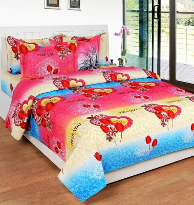 Kelly Polycotton Floral King sized Double Bedsheet