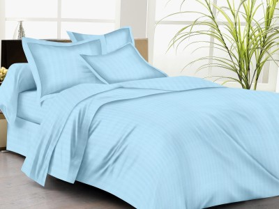 Trance Home Cotton Striped King sized Double Bedsheet
