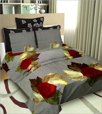 Newhome Cotton Floral Double Bedsheet