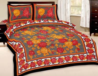 Divine Impex Cotton Floral Double Bedsheet