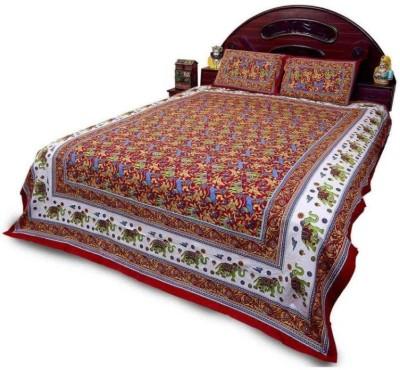 Idesign Cotton Floral Double Bedsheet