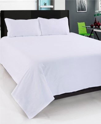 om trading Cotton Plain King sized Double Bedsheet