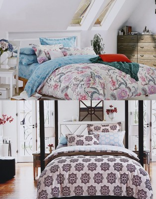 Home Basics Cotton Floral Queen sized Double Bedsheet