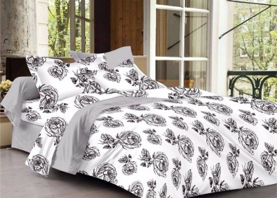 CORAL BELLS Cotton Floral Double Bedsheet